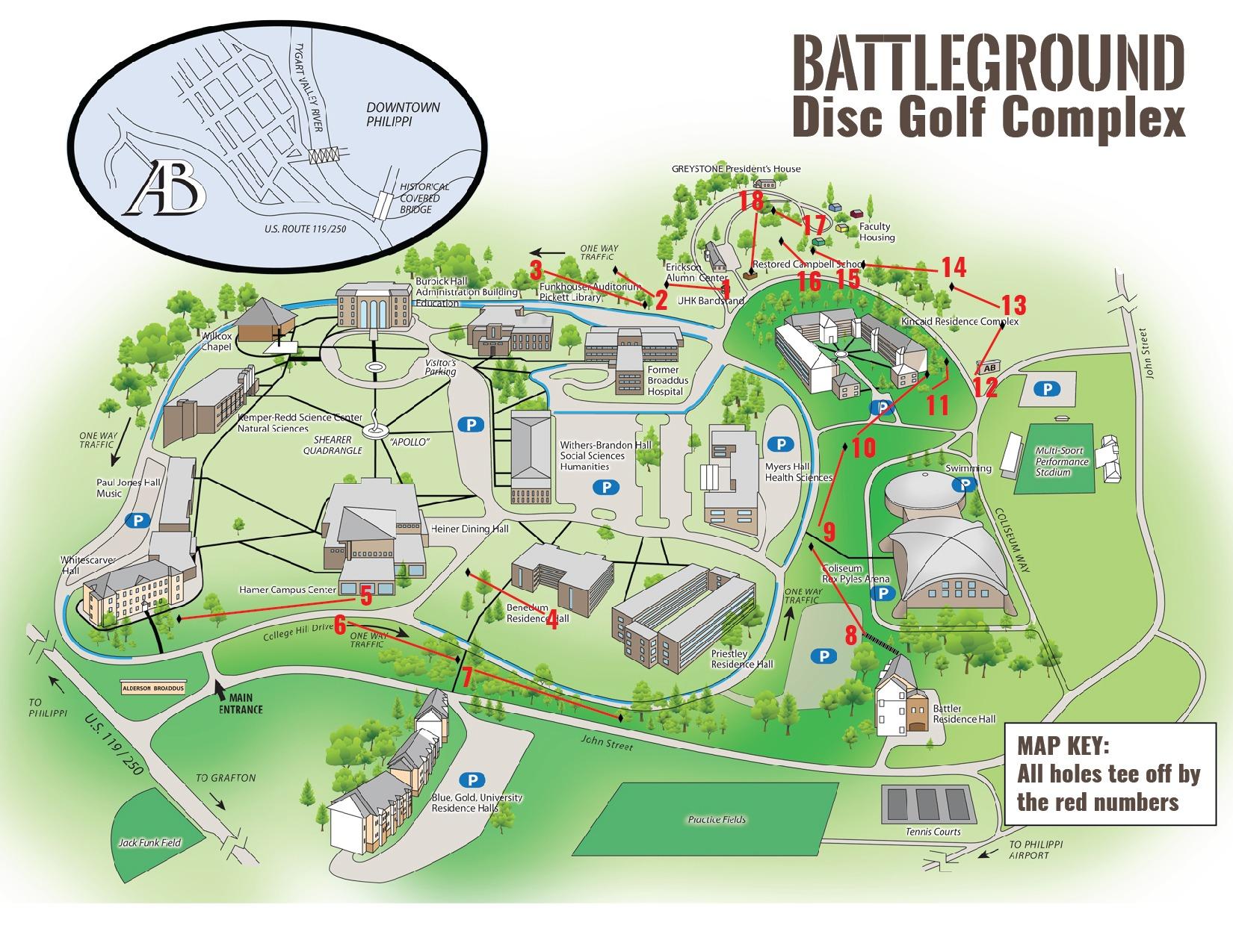 Campus Map - Disc Golf