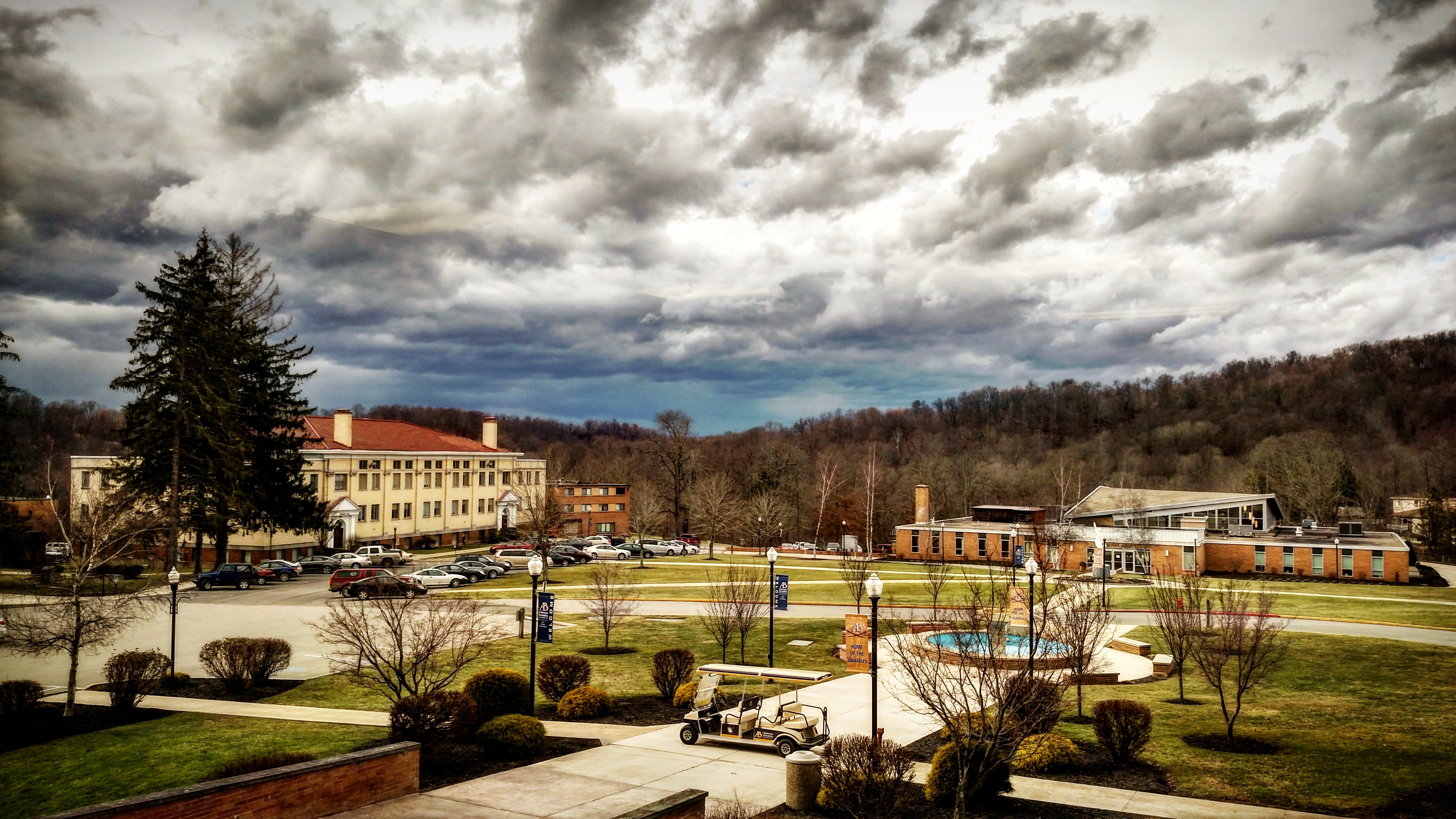 Campus from Burbick - storm approaching