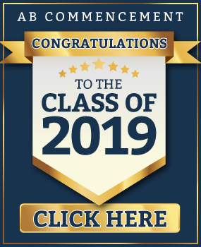 AB Commencement - Congratulations to the Class of 2019 - Click Here to View