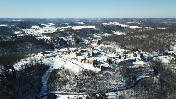 Aerial view of Alderson Broaddus University